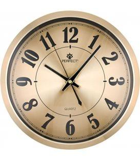 Zegar ścienny analogowy Perfect PW 192 Złoty Ø 30.5