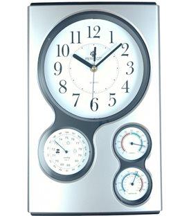 Zegar ścienny analogowy Perfect QG 17 Srebrny
