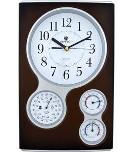 Zegar ścienny analogowy Perfect QG Ciemny brąz