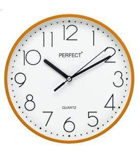 Zegar ścienny analogowy Perfect FX-5814 Pomarańczowy Ø 22.5