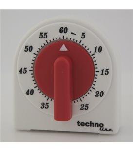 Minutnik analogowy KT 200 Biało czerwony
