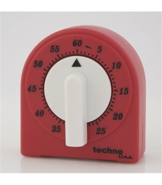 Minutnik analogowy KT 200 Czerwono biały