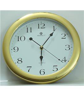 Zegar ścienny analogowy Perfect LA 17 Złoty połysk Ø 28