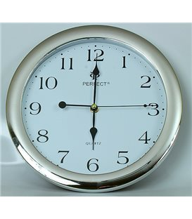 Zegar ścienny analogowy Perfect LA 17 Srebrny  połysk Ø 28