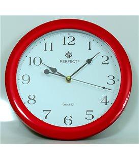 Zegar ścienny analogowy Perfect LA 17 Czerwony