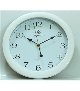 Zegar ścienny analogowy Perfect LA 17 Biały