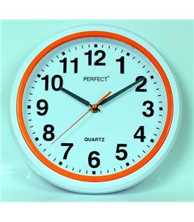 Zegar ścienny analogowy Perfect FX-5841 Pomarańczowy Ø 28.5