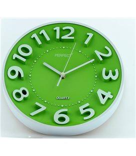 Zegar ścienny analogowy Perfect FX-5840 Zielony