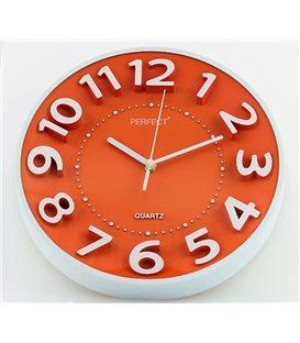 Zegar ścienny analogowy Perfect FX-5840 Pomarańczowy Ø 28.0
