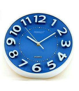 Zegar ścienny analogowy Perfect FX-5840 Niebieski