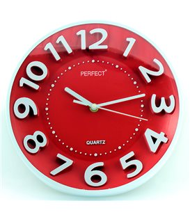 Zegar ścienny analogowy Perfect FX-5840 Czerwony