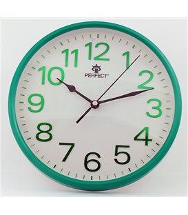 Zegar ścienny analogowy Perfect GWL 683 Zielony Ø 25