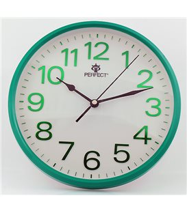 Zegar ścienny analogowy Perfect GWL 683 Zielony