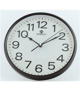 Zegar ścienny analogowy Perfect GWL 683 Czarny