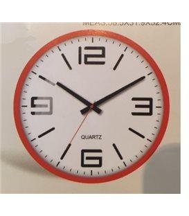 Zegar ścienny analogowy Perfect FX-5129 czerwony