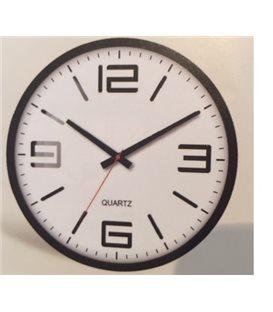 Zegar ścienny analogowy Perfect FX-5129 czarny Ø 30.0