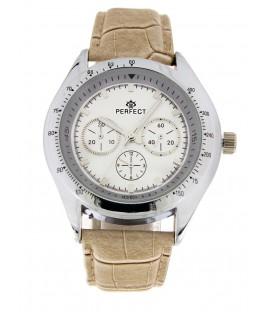 Zegarek Perfect G 117 brązowy pasek biała tarcza