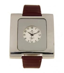 Zegarek Perfect G218 bordowy pasek biała tarcza