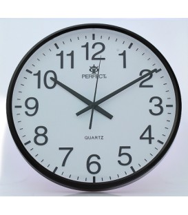 Zegar ścienny analogowy Perfect SWL 684 brązowy Ø 31