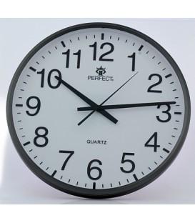 Zegar ścienny analogowy Perfect SWL 684 grafitowy Ø 31