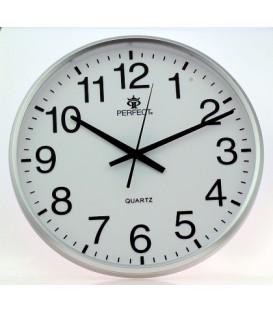 Zegar ścienny analogowy Perfect SWL 684 srebrny Ø 31