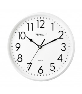 Zegar ścienny analogowy Perfect FX-5742 biały