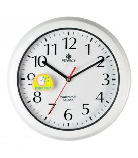 Zegar ścienny analogowy Perfect WL 665 BIAŁY Ø 30.0