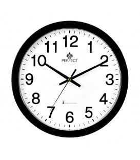 Zegar ścienny analogowy Perfect WR 611 Czarny