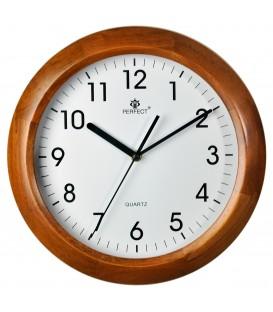 Zegar ścienny analogowy Perfect N052 Jasny brąz