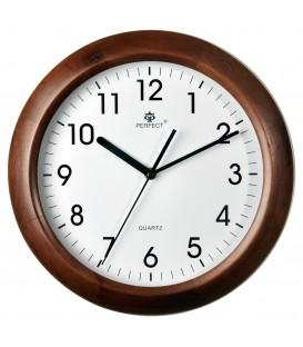 Zegar ścienny analogowy Perfect N052 Brąz Ø 30.0