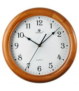 Zegar ścienny analogowy Perfect W7043 Jasny brąz