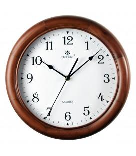 Zegar ścienny analogowy Perfect W7043 Brąz