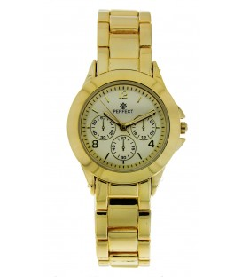 Zegarek kwarcowy Perfect G 429 GOLD złota tarcza 3 koła