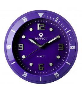 Zegar ścienny analogowy Perfect 825 Fioletowy