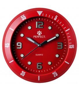 Zegar ścienny analogowy Perfect 825 Czerwony