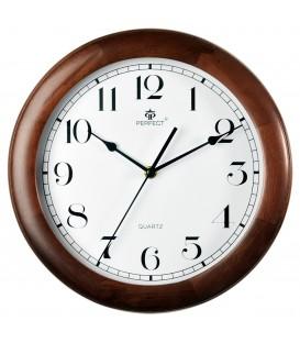 Zegar ścienny analogowy Perfect N0382 Brąz