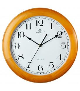 Zegar ścienny analogowy Perfect N0382 Jasny Brąz