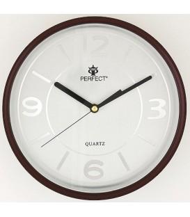 Zegar ścienny analogowy Perfect PW 149 Ciemny brąz