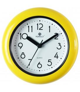 Zegar analogowy Perfect FX 019 żółty