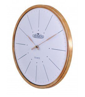 Zegar ścienny analogowy Chermond 1118 biała tarcza Ø 33