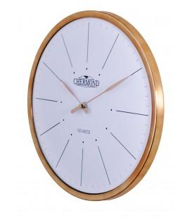 Zegar ścienny analogowy Chermond 1118 biała tarcza