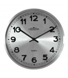 Zegar ścienny analogowy Chermond 9737 CS srebrny Ø 25