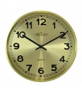 Zegar ścienny analogowy Chermond 9737 CG złoty
