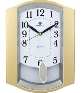 Zegar ścienny analogowy Perfect PW 016 złoty