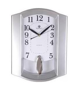 Zegar ścienny analogowy Perfect PW 016 srebrny